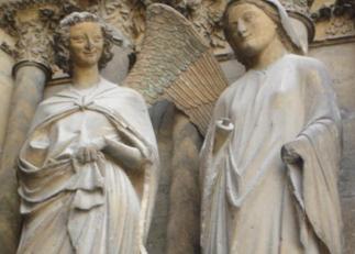 La anunciación en la catedral de Reims