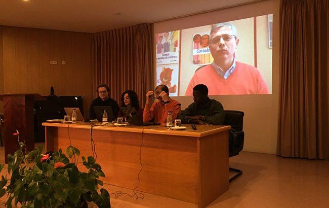 Fran Martínez, Puri Santos, Paco Chiva y Amet Ndiaye