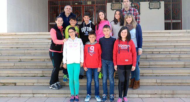 Ocho alumnos del colegio La Salle de Teruel, ganadores de la fase provincial del concurso nacional 'Gana puntos con la Educación Vial'