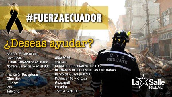 #fuerzaecuador ¿Deseas ayudar?