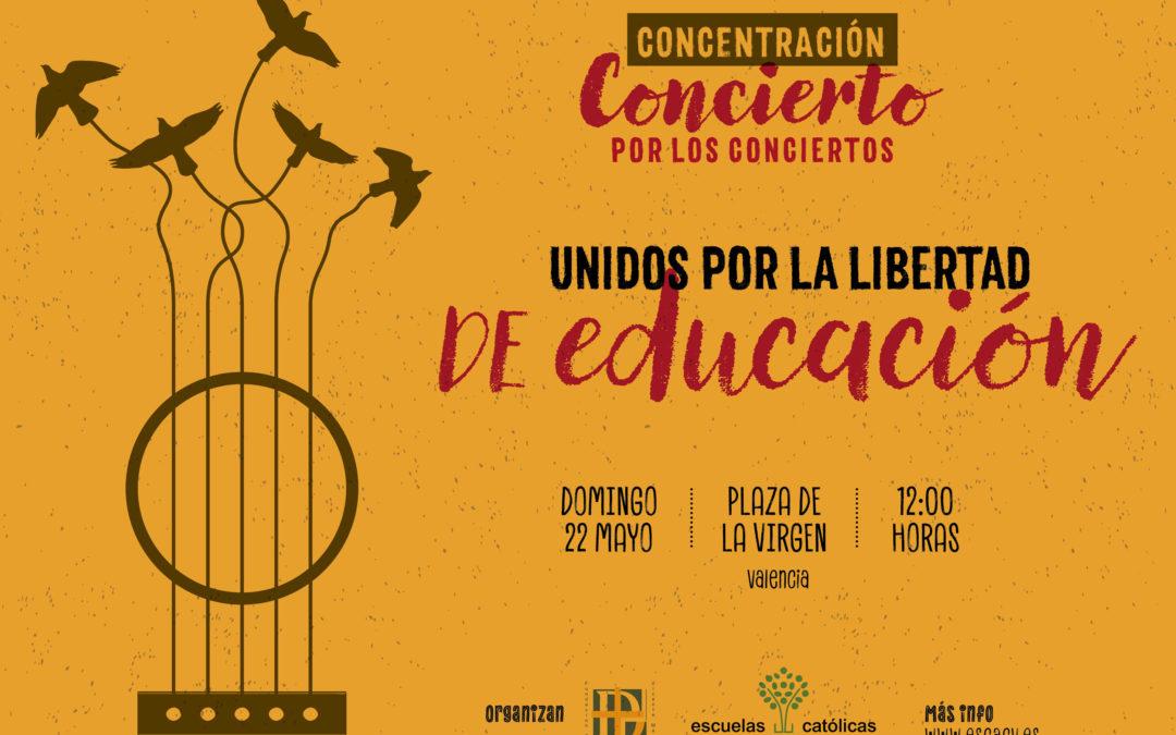 Concentración en defensa de la libertad de educación en la Comunidad Valenciana