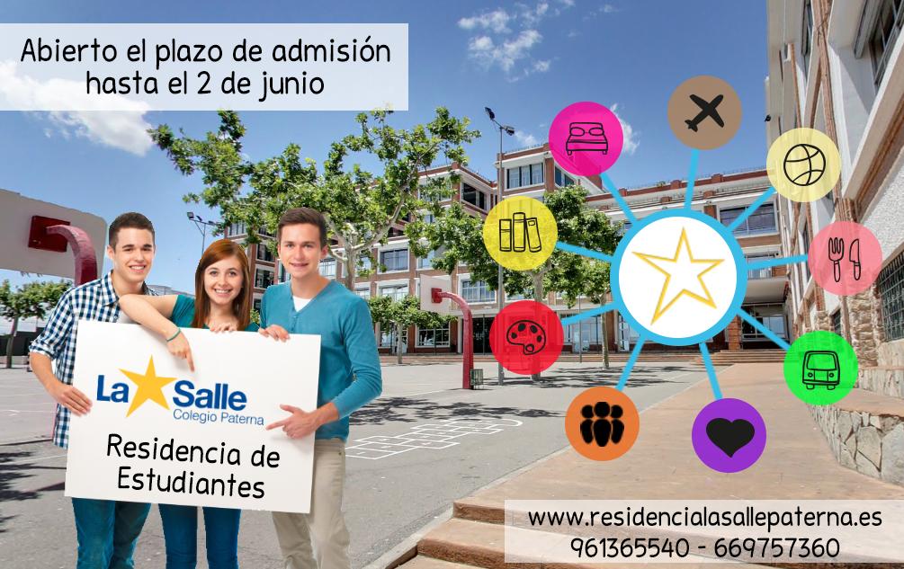 Abierto el plazo de admisión en la Residencia de Estudiantes del Colegio La Salle de Paterna