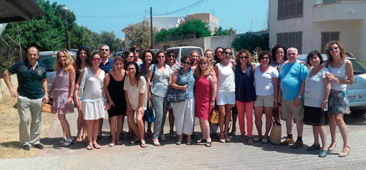 Encuentro del personal de administración y secretaría del Sector Valencia-Palma en Cala Morlanda