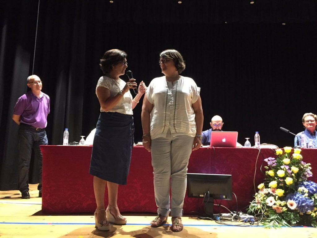 Alicia Pla con Joana Maria Cunill