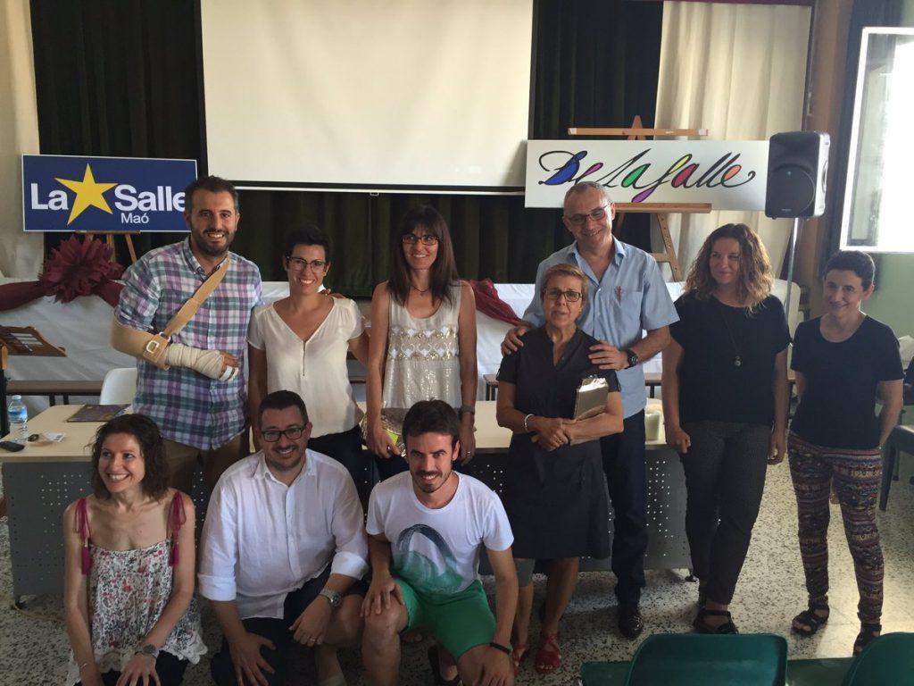 Foto de familia a todos los homenajeados en Menorca
