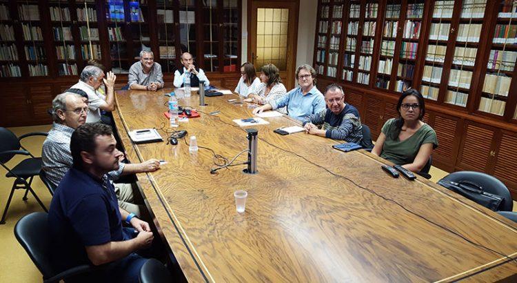 Los Hermanos Consejeros Generales Rafa Matas y Gustavo Ramírez se reúnen con los asociados del sector Valencia-Palma