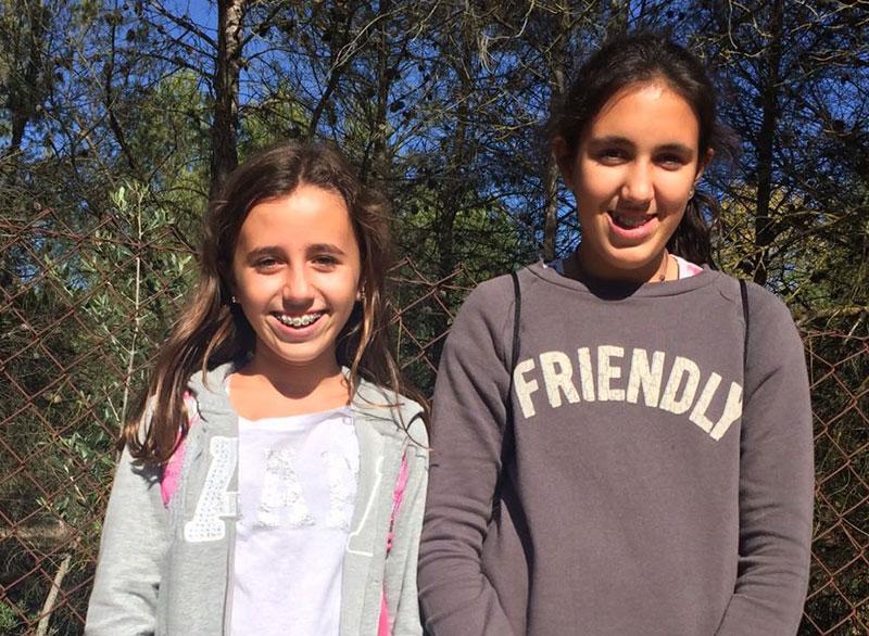 Las alumnas de La Salle Alcoi, Elisa Nebot Escoda y Paula Chinchilla Valls
