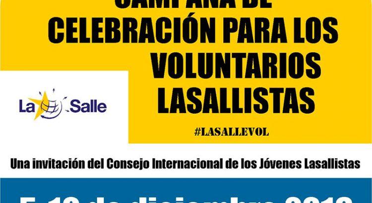 Jóvenes Lasalianos presenta una campaña internacional de celebración de voluntarios