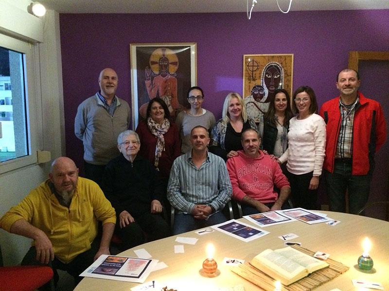 Visita del equipo directivo de La Salle Manacor a la Comunitat de Montserrat