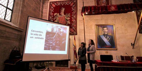 """Dos profesoras del Colegio La Salle de Paterna realizan la conferencia """"Cervantes, la vida de un Soldado"""""""
