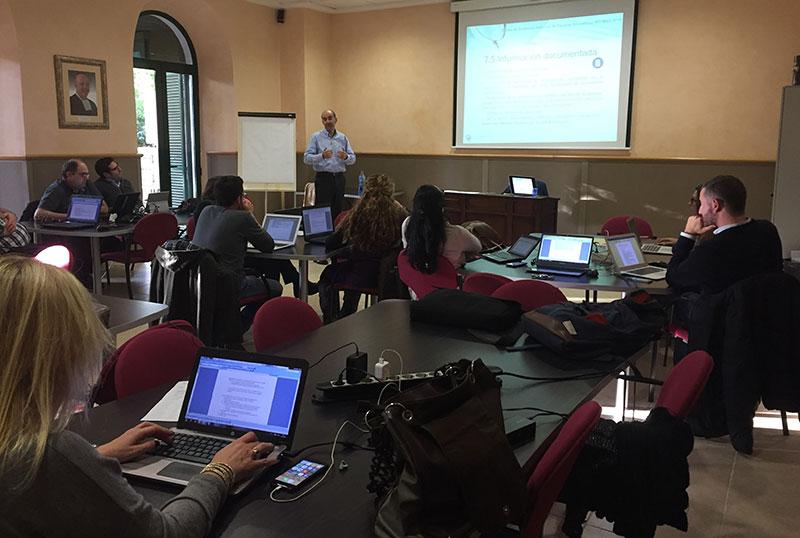 Responsables de Calidad de La Salle en Baleares y Teruel participan en el curso de auditores de Calidad según ISO 9001:2015