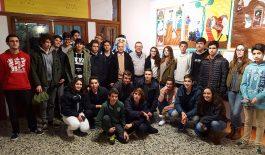El historiador y escritor Gaspar Valero visita La Salle Palma para inaugurar una exposición sobre Ramon Llull