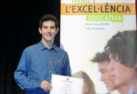 Raúl Llambías, alumne de La Salle Alaior, guardonat amb el Premi al rendiment acadèmic excel·lent