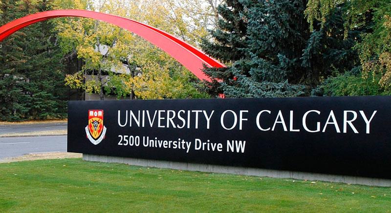 Entrada a la Universidad de Calgary