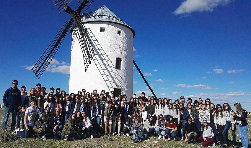 Alumnos de La Salle Benicarló, en la Ruta del Quijote