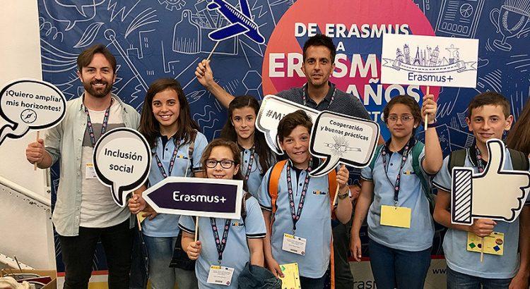 Grupo de alumnos y profesores participantes en Erasmus+