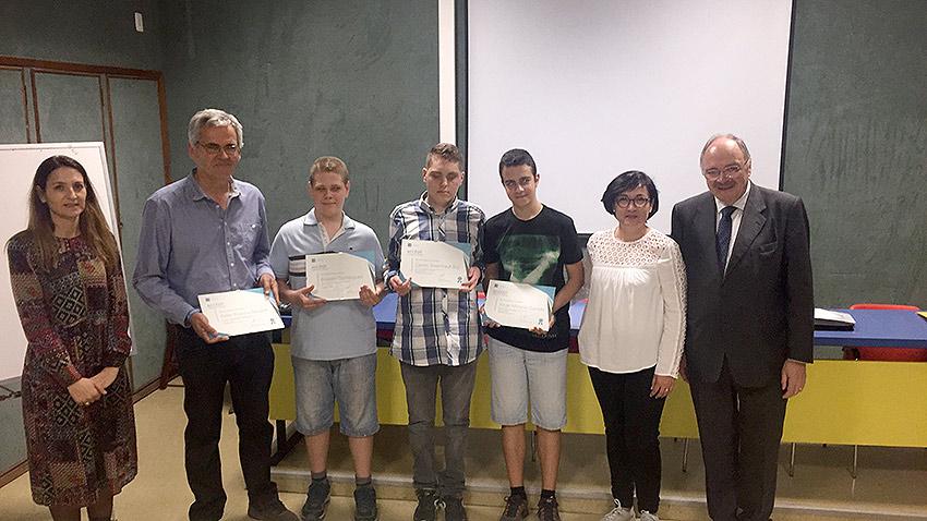 Tres alumnos de 4º de ESO de La Salle Paterna, galardonados con un accésit en el concurso internacional LS Dreams