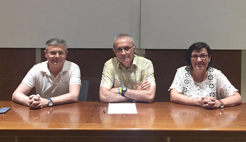 Ángel Civera, Hno. José María Valero e Isabel Mora