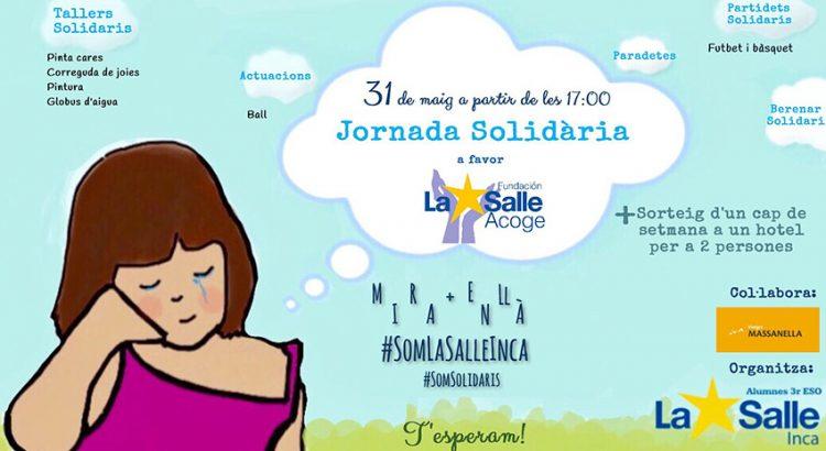 Cartel de la jornada solidaria en Inca
