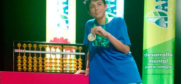 Pau Taltavull, alumno de La Salle Máo, campeón de Baleares y subcampeón de España de Cálculo Aloha Mental