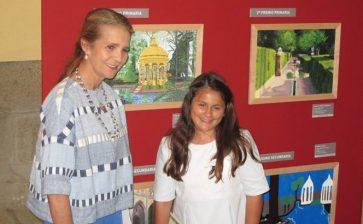Irais Torres, alumna de La Salle Teruel, recibe el primer premio del Concurso de Pintura de Patrimonio Nacional
