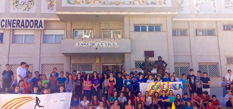 El Correllengua visita La Salle l'Alcora · L'alegria de compartir una llengua comuna