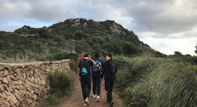 Els alumnes de 2º ESO de La Salle Maó visiten el castell de Santa Àgueda