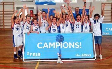 L'equip de bàsquet Mini Masculí A de La Salle Maó, campió de les Illes Balears
