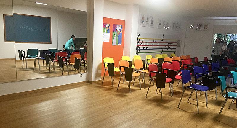 Inauguració de l'aula de música a La Salle Manacor