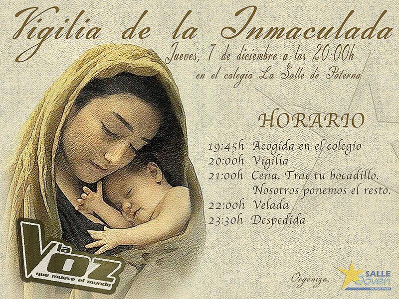 Salle Joven invita a todos los jóvenes de La Salle Valencia-Palma a celebrar la Vigilia de la Inmaculada