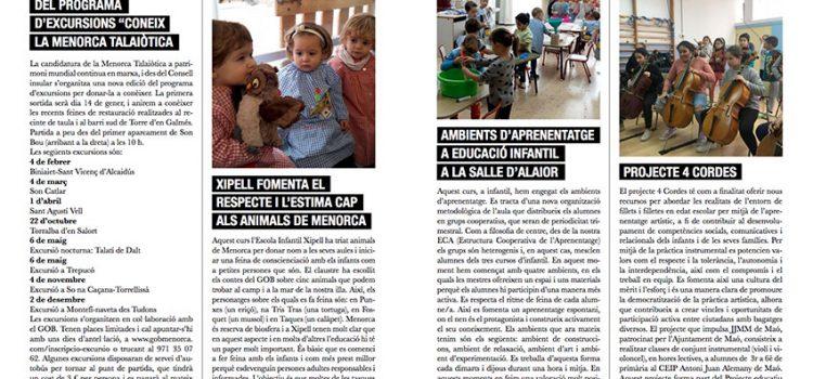 Els ambients d'aprenentatges d'Infantil de La Salle Alaior, a la revista Àmbit