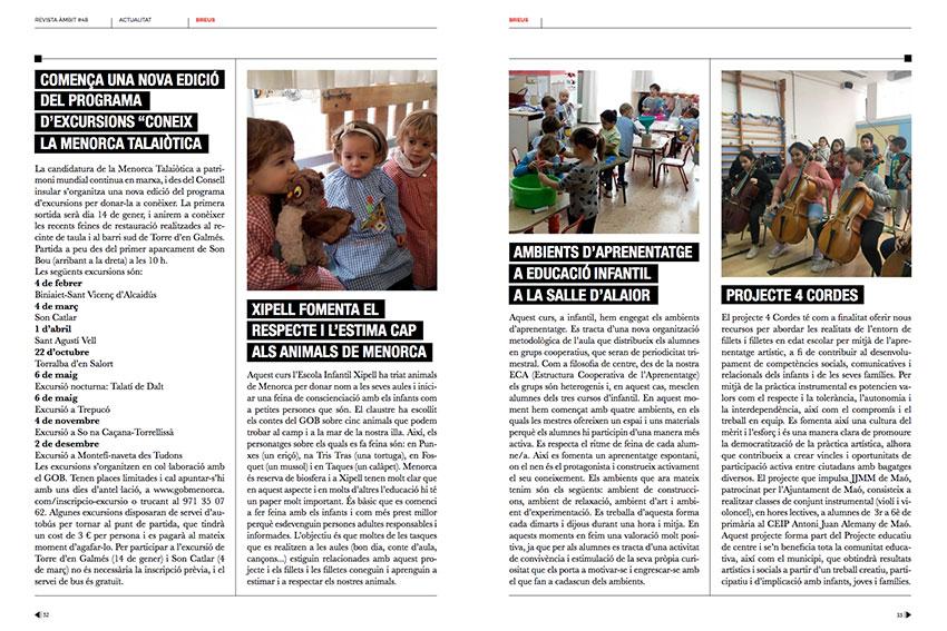 Ambients d'aprenentatges de La Salle Alaior a la revista Àmbit