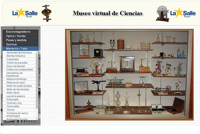 Página de inicio del museo virtual de Teruel