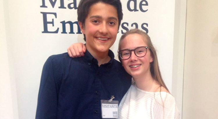 Alba junto a Junior Ennio Campoli, otro de los vencedores proveniente de las Illes Balears