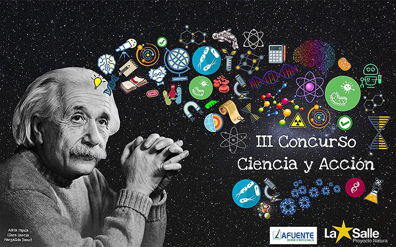 Cartel de la III Edición del concurso Ciencia y Acción