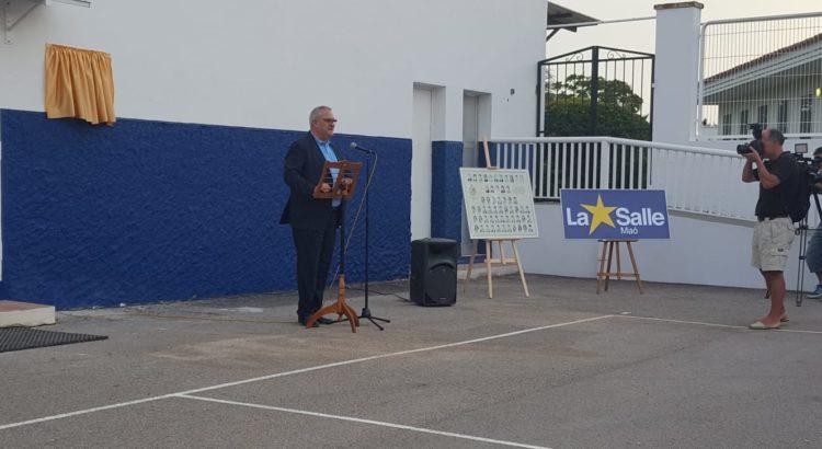 Inauguración del Pabellón Sergio Llull en La Salle Maó