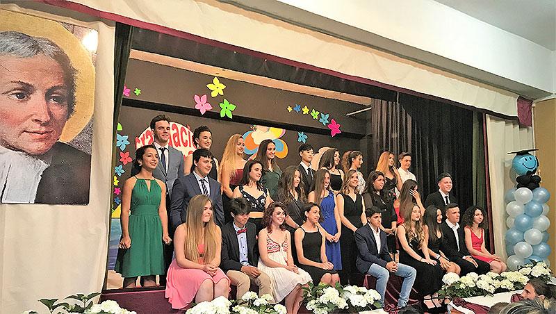 Acte de graduació dels alumnes finalistes de 4t de ESO del col·legi La Salle Maó