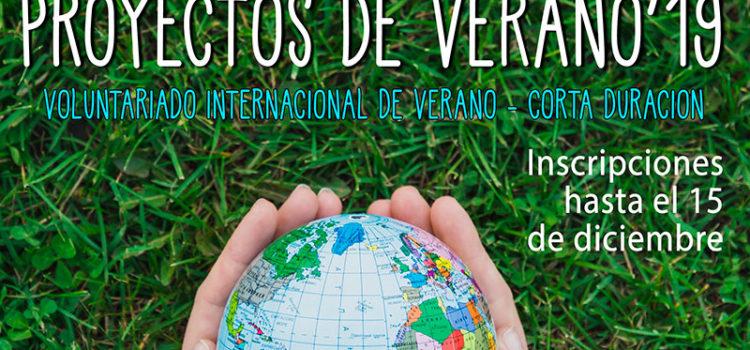 Abierta la convocatoria general para participar en los Proyectos de Verano 2019 de Proyde