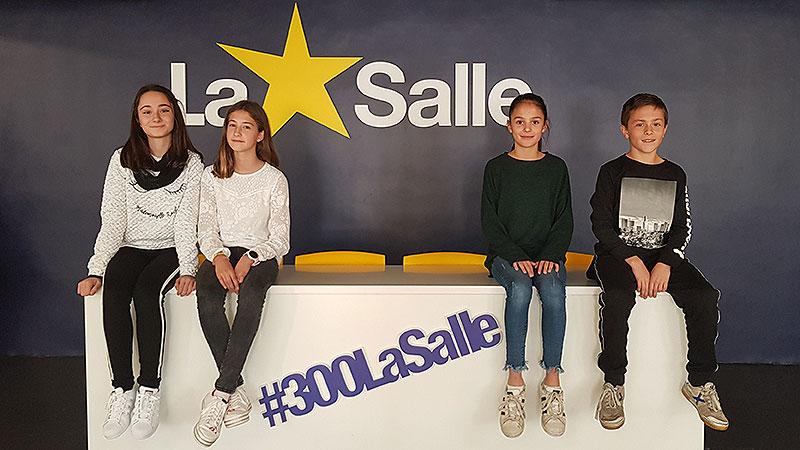 Los alumnos Laura Arenas, Aitana Fajardo, Julia Masiá y Pau Gutiérrez de La Salle Alcoi