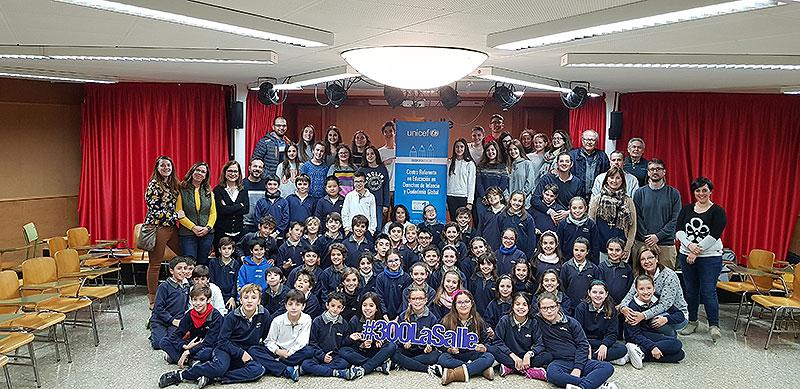 UNICEF reconeix el col·legi La Salle Alcoi com a Centre referent en Educació en Drets d'Infància i Ciutadania Global