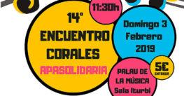 A la venta las entradas para el 14º Encuentro de Corales APASOLIDARIA, a beneficio de la Fundación La Salle Acoge