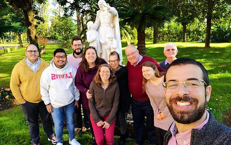 Encuentro Consejo de jóvenes de la RELEM  en la Casa Generalicia de La Salle en Roma