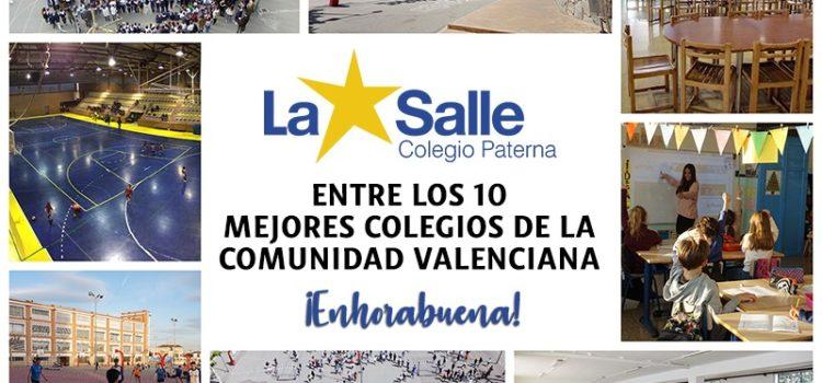El Colegio La Salle Paterna, entre los 10 mejores colegios de la Comunidad Valenciana