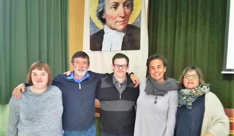 Visita d'Andy Trias Trueta a La Salle Maó