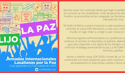 Jornadas Internacionales Lasalianas por la Paz, una llamada a cambiar el mundo