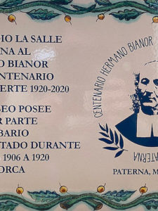 La Salle Paterna celebra un acto conmemorativo en su museo en el centenario del Hermano Bianor
